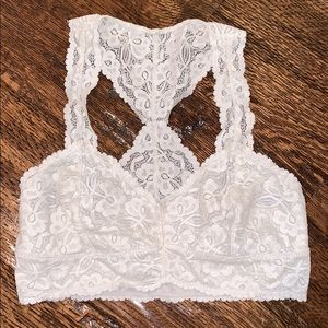 Free People cream bralette!